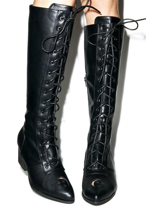 y r u aura knee high boots dolls kill
