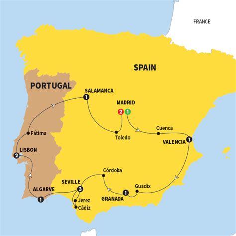 map of spain portugal spain tours spain vacations trafalgar us