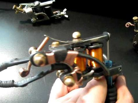 tattoo machine not working handmade custom reverse spring shader tattoo machine youtube