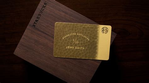 Starbucks Card Usa Nyc starbucks exclusive 5 000 giftcard is made from 10 karat gold eater