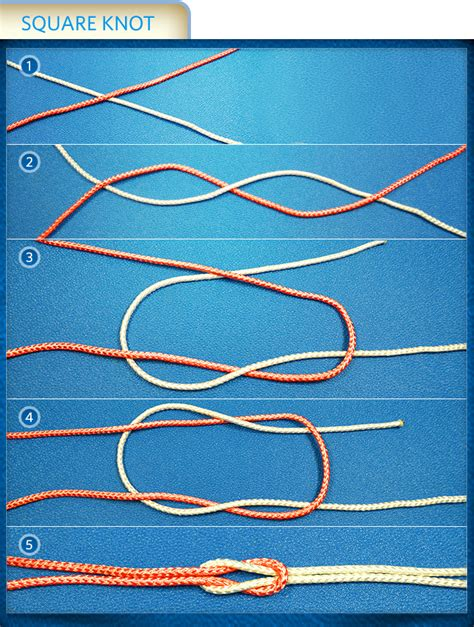 How To Make Square Knots - all up how to make and use 3 knots the allstate
