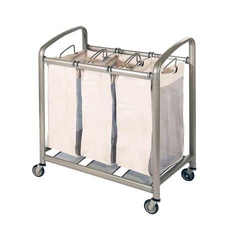 Seville Classics 3 Bag Slanted Handle Laundry Sorter Sorter Laundry