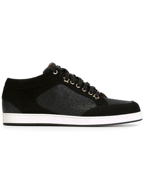of miami sneakers jimmy choo miami sneakers in black lyst