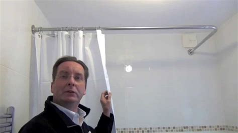 Over Bath Shower Curtain Rail how to install a shower curtain rail by byretech youtube