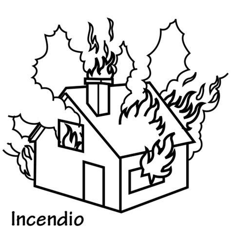 imagenes socionaturales dibujos de incendios para colorear