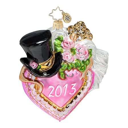 2013 dated christmas ornaments radko ornaments bridal wedding ornament together forever