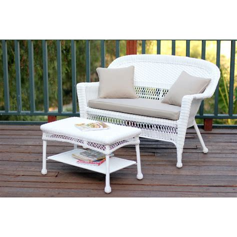 white wicker patio coffee table white wicker patio seat and coffee table set with