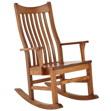 Oak finish traditional design wooden rocking chair
