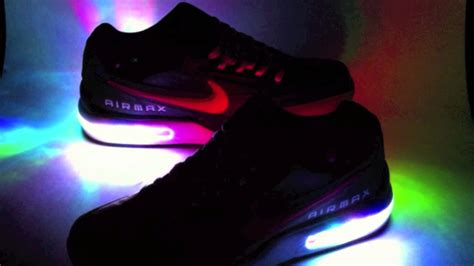 light up nike shoes for color changing light up nike air max ltd youtube