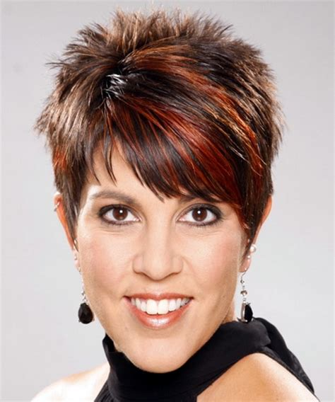 spikey hairstyles for women over 45 with fat face short spiky haircuts for women