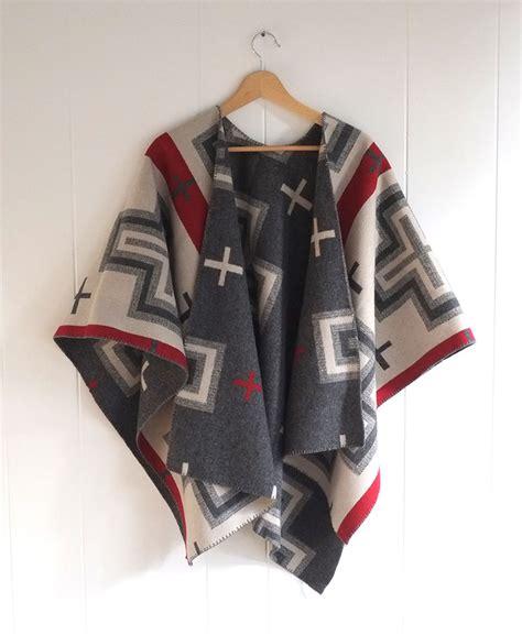 fabric pattern poncho sjp knock off wool cape tutorial sew mama sew