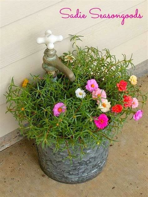 diy lovely creative easy vintage faucet planter