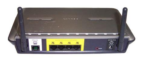 Pasang Router Wifi Speedy belkin f5d7633 4 adsl modem with high speed mode wireless g router no psu ebay