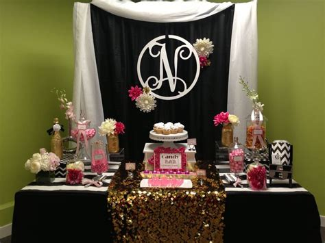 black and gold buffet ls black white pink and gold candy designed by glam
