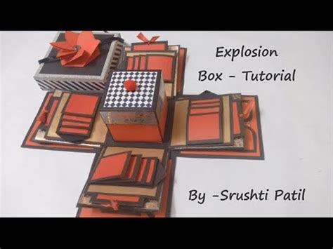 explosion box gift tutorial explosion box tutorial theme valentine black and