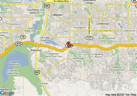 highlands ranch colorado map highlands ranch map