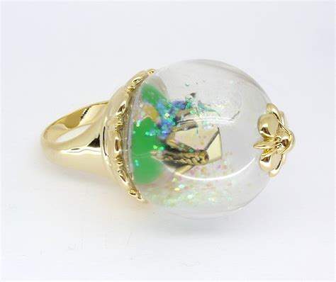 disney couture icon snow white cottage snow globe ring ebay