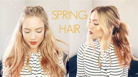 spring hair dos quick easy spring hairstyles youtube