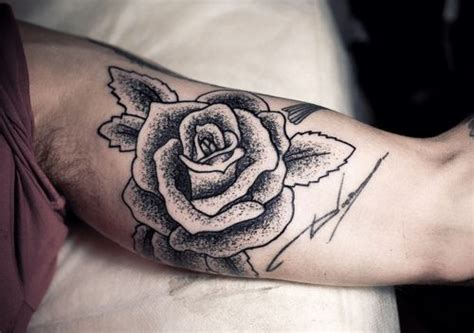 inner arm rose tattoo inner arm the stippled style tattoos