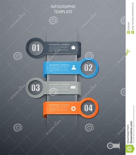 banner workflow infographics options banners royalty free stock photos