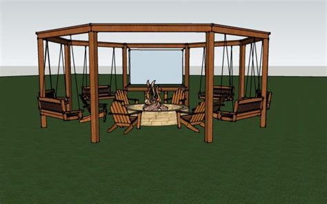 diy pit swing set remodelaholic tutorial build an amazing diy pergola and firepit with swings