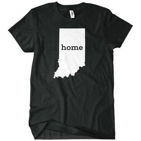 indiana home t shirt state pride textual tees