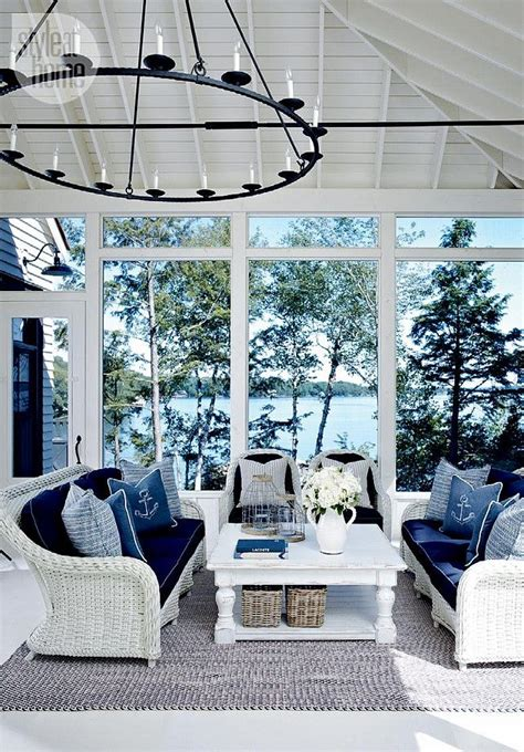 nautical decor ideas 25 coastal and beach inspired sunroom design ideas digsdigs