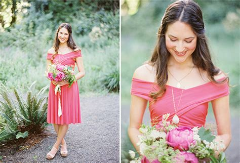 Garden Dress Bridesmaid Garden Wedding Blush Pink Coral