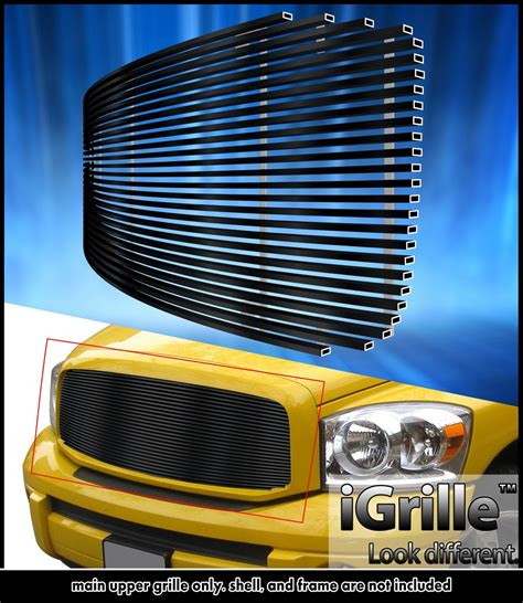 2006 dodge ram billet grille egrille fits 2006 2008 dodge ram 1500 2500 3500 black