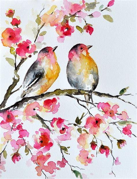 imagenes de flores turquesas pintura de acuarela original p 225 jaro y flores ilustraci 243 n