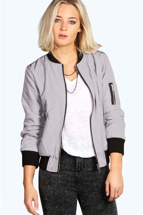 Jaket Bombber Scrimmer Light Grey Jaket Bomber Jaket Bomber grey bomber jacket womens coat nj