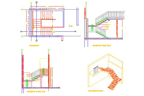 staircase section dwg file bloques cad autocad arquitectura download 2d 3d dwg