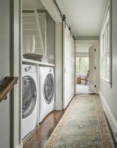 Sliding Barn Door Rails Hallway Laundry Room With Sliding Barn Door On Rails