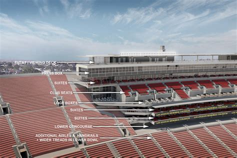 In Law Suite Designs by Usc Reveals Preliminary Plan To Renovate L A Coliseum