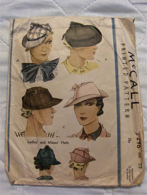 mccall pattern company history 1581 best vintage fashion hats images on pinterest