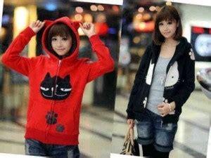Jaket Wanita Jaket Merah Lo Jaket Wanita Babytery Merah jaket cewek motif kucing jacket keren cattie babytery merah hitam
