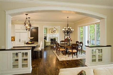 pretty kitchen and dining room with an open floor plan kitchen kitchen flooring ideas best images collections hd for