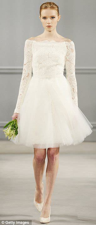 Would you wear a miniskirt wedding gown modern thigh skimming dresses
