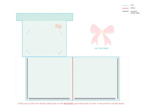 free template for gift card holder printable gift card holder