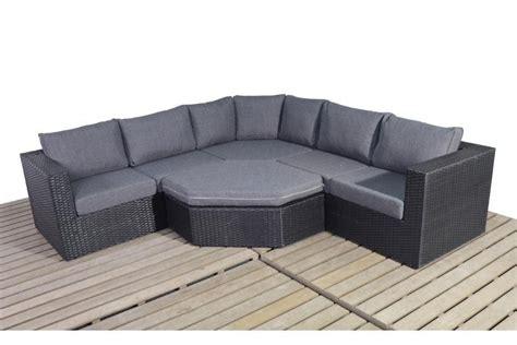 rattan corner sofa uk prestige black rattan angle corner sofa set homegenies
