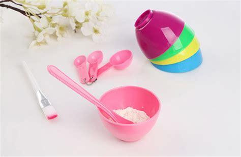 Pisau Cukur Alis Bahan Plastik mangkok masker kosmetik warna mask bowl 1 set grosir cirebon