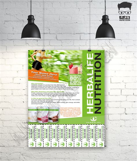 flyer template nutrition custom print ready herbalife contact flyer herbalife