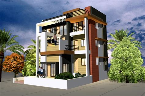 3d exterior home design online free home design free house front elevation home interior and