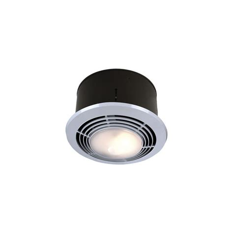 exhaust fan with light and heater for bathroom broan nutone round bath fan and heater with light 9093wh