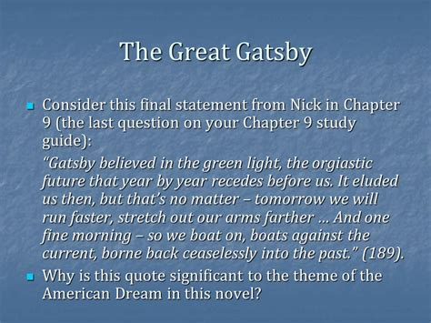 theme of society in the great gatsby the great gatsby finish ppt video online download
