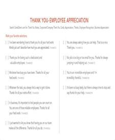 Thank You Letter For From Employer Sle Thank You Notes To Employee 8 Exles In Word Pdf