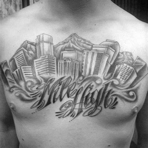 denver tattoo 20 denver skyline designs for colorado ink ideas