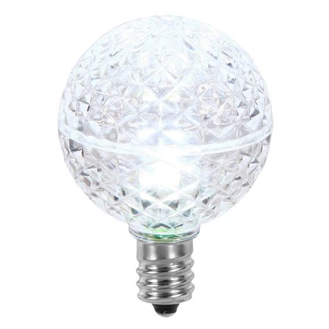 holiday living replacement led cool white christmas light bulbs vickerman 25 led g40 cool white faceted replacement light bulbs 715833069543 ebay