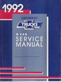 service manual buy car manuals 1992 gmc vandura 2500 parking system service manual 1992 gmc 1992 chevrloet express gmc savana g van service manual