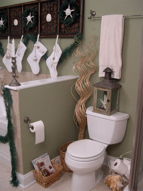ideas for bathroom decor bathroom decorating ideas for christmas room decorating